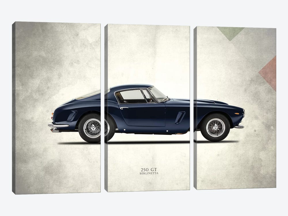 1959 Ferrari 250 GT Berlinetta by Mark Rogan 3-piece Canvas Artwork