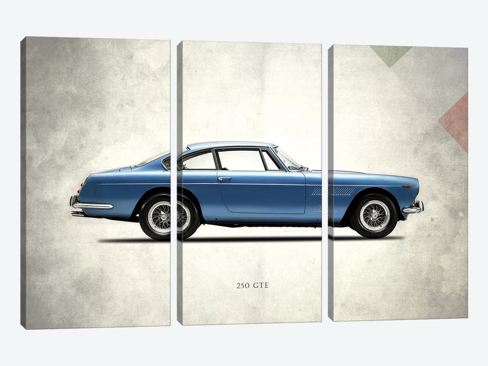 1962 Ferrari 250 GT/E by Mark Rogan 3-piece Canvas Print