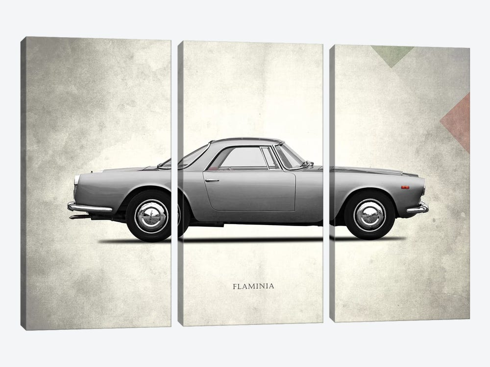 1962 Lancia Flaminia GT by Mark Rogan 3-piece Canvas Artwork