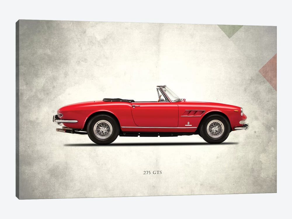 1966 Ferrari 275 GTS by Mark Rogan 1-piece Canvas Artwork