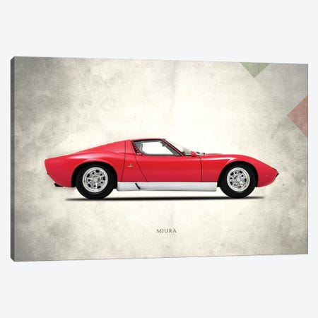 1967 Lamborghini Miura P400 Canvas Print #RGN269} by Mark Rogan Canvas Wall Art