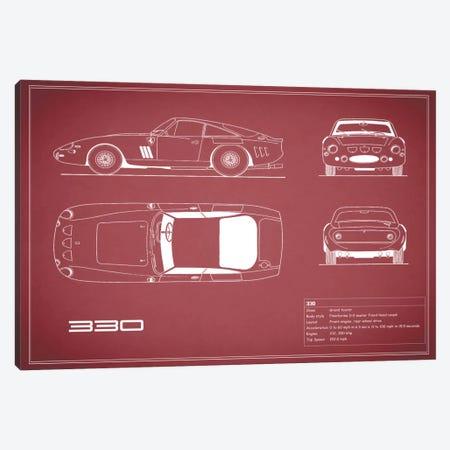 1963 Ferrari 330 LM Berlinetta (Maroon) Canvas Print #RGN26} by Mark Rogan Art Print