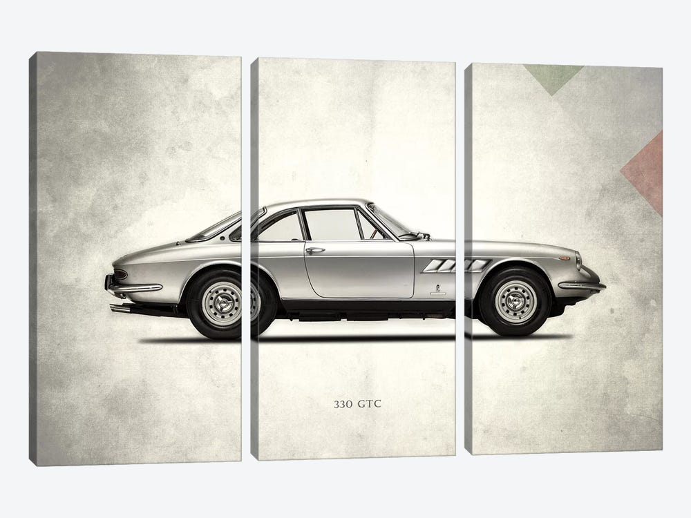 1968 Ferrari 330 GTC by Mark Rogan 3-piece Canvas Art Print