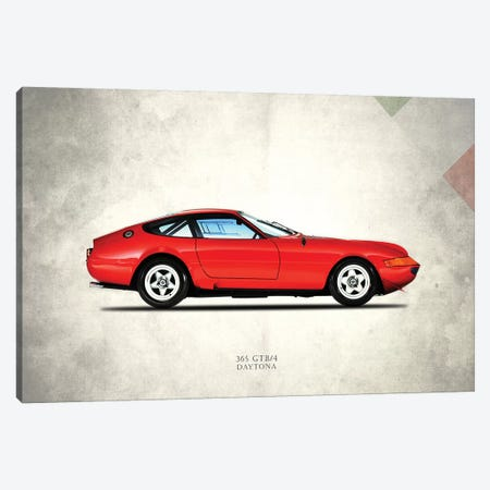 1969 Ferrari (Daytona) 365 GTB/4 Canvas Print #RGN271} by Mark Rogan Canvas Print