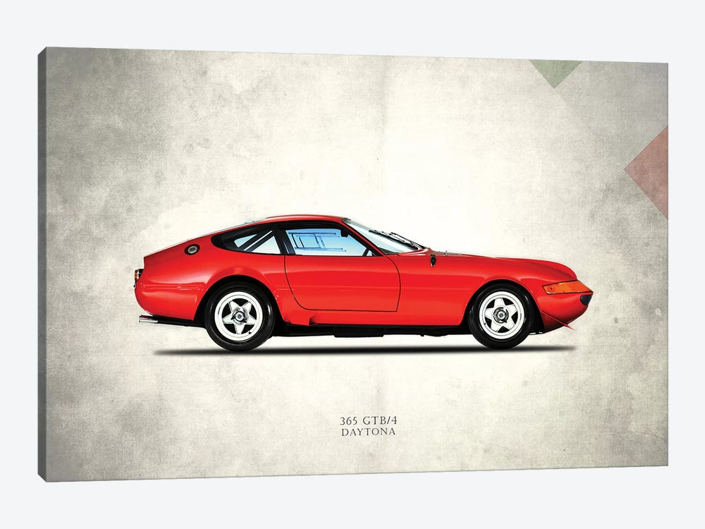 1969 Ferrari (Daytona) 365 GTB/4 by Mark Rogan 1-piece Canvas Artwork