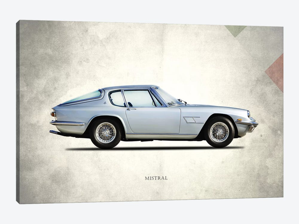 1969 Maserati Mistral by Mark Rogan 1-piece Canvas Print