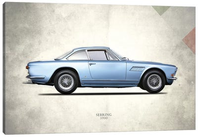 1969 Maserati Sebring 3700 Canvas Art Print