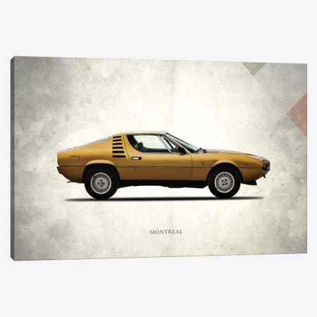 1972 Alfa Romeo Montreal Canvas Print #RGN274} by Mark Rogan Canvas Wall Art