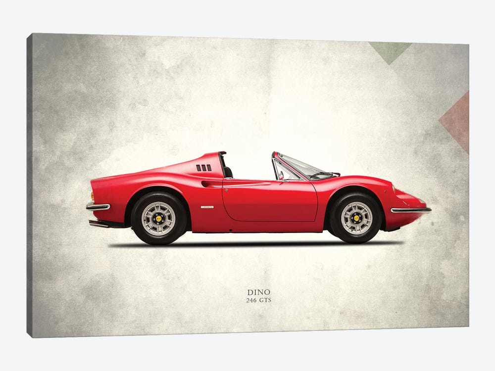 1973 Ferrari Dino 246 GTS by Mark Rogan 1-piece Canvas Print