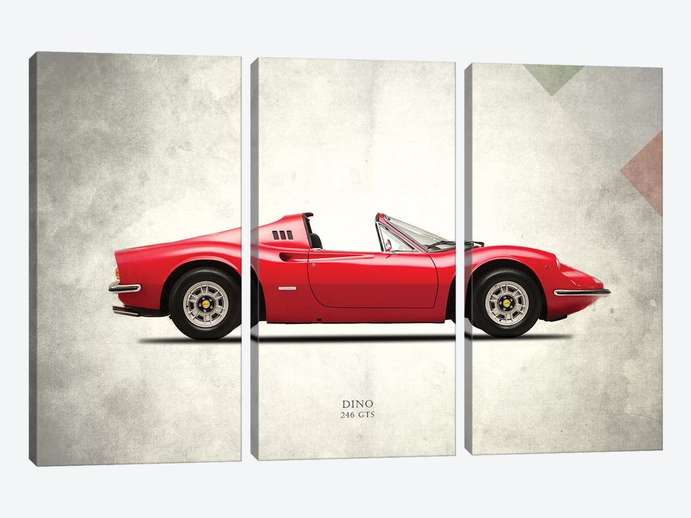 1973 Ferrari Dino 246 GTS by Mark Rogan 3-piece Art Print