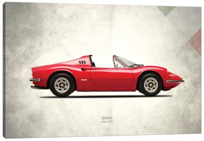 1973 Ferrari Dino 246 GTS Canvas Art Print