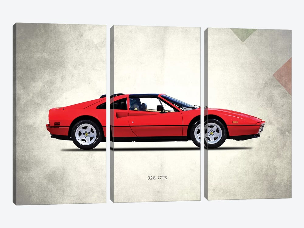 1987 Ferrari 328 GTS by Mark Rogan 3-piece Art Print