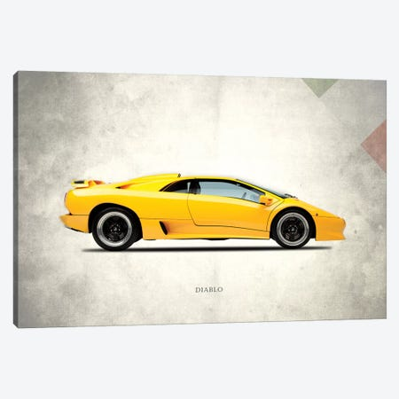 1988 Lamborghini Diablo Canvas Print #RGN282} by Mark Rogan Canvas Wall Art