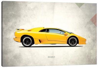 Vintage Italia Series: 1988 Lamborghini Diablo Canvas Print #RGN282