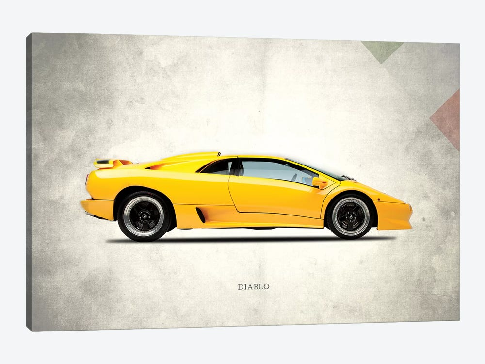 1988 Lamborghini Diablo by Mark Rogan 1-piece Canvas Artwork