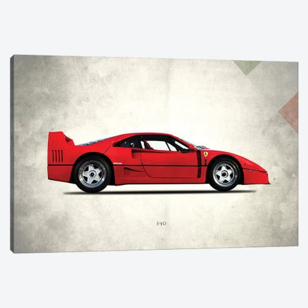1992 Ferrari F40 Canvas Print #RGN284} by Mark Rogan Canvas Art Print