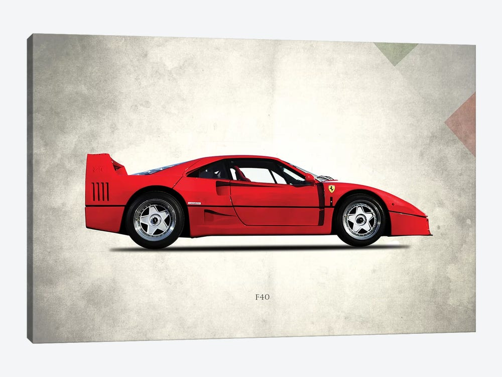1992 Ferrari F40 by Mark Rogan 1-piece Canvas Art