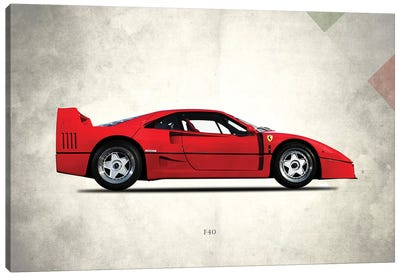 1992 Ferrari F40 Canvas Art Print