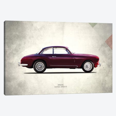 Alfa Romeo 1900C Super Sprint 3-Piece Canvas #RGN286} by Mark Rogan Canvas Print