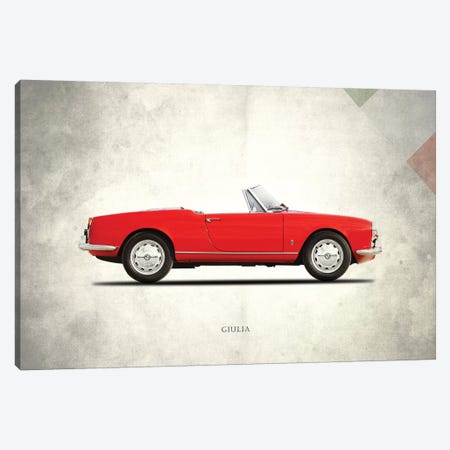 Alfa Romeo Giulia 1600 Spider 3-Piece Canvas #RGN287} by Mark Rogan Canvas Art Print