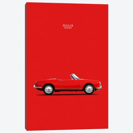1964 Alfa Romeo Giulia Spider Canvas Print #RGN28} by Mark Rogan Canvas Artwork