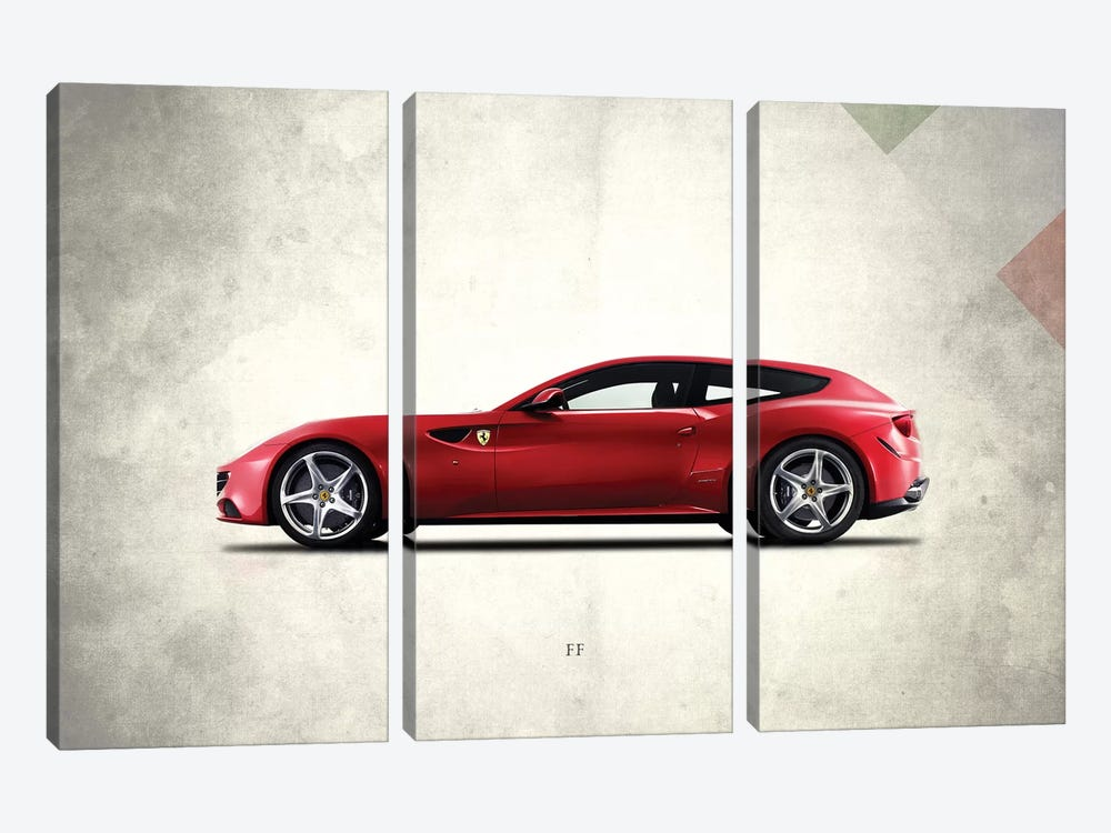 Ferrari FF by Mark Rogan 3-piece Canvas Print