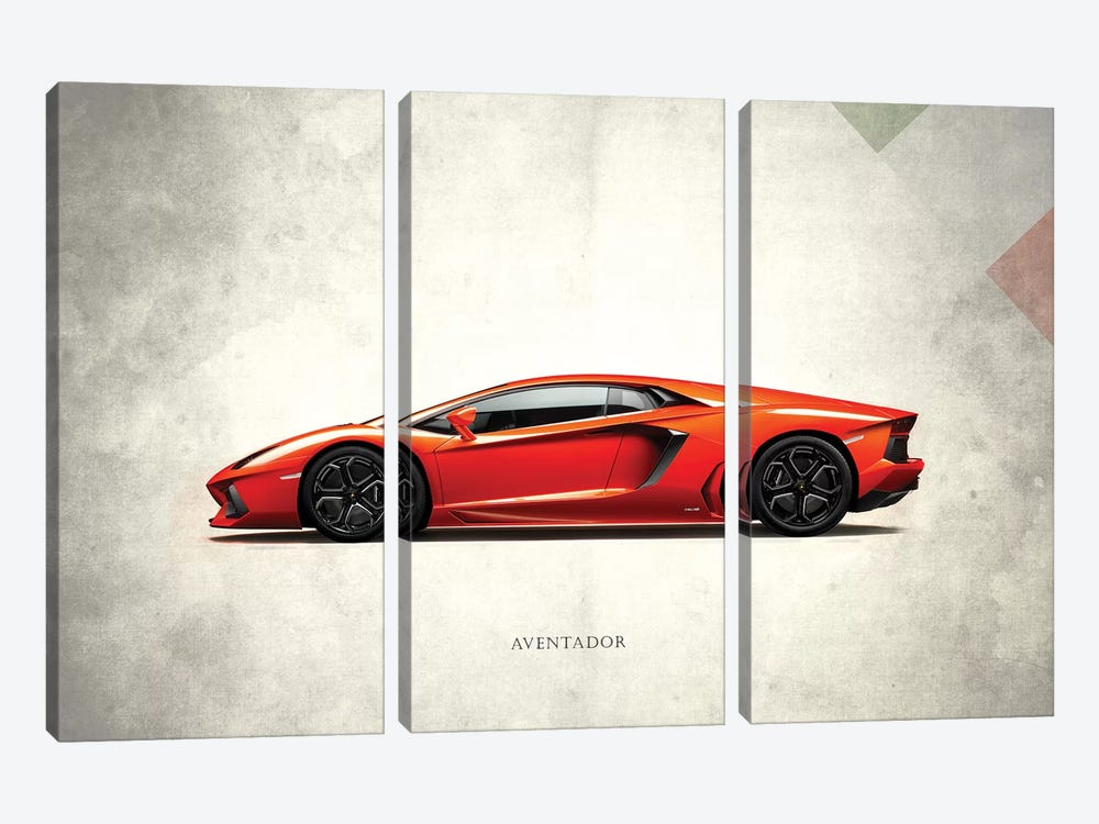 Lamborghini Aventador by Mark Rogan 3-piece Canvas Art
