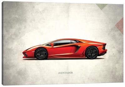 Vintage Italia Series: Lamborghini Aventador Canvas Print #RGN291
