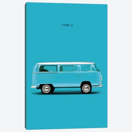 Volkswagen Type 2 Canvas Print #RGN294} by Mark Rogan Canvas Art