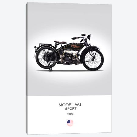 1922 Harley-Davidson Model WJ Sport Motorcycle Canvas Print #RGN296} by Mark Rogan Canvas Art