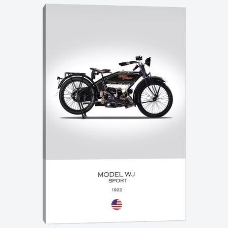 1922 Harley-Davidson Model WJ Sport Motorcycle Canvas Print #RGN296} by Mark Rogan Canvas Art
