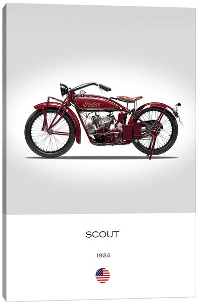 1924 Indian Scout Motorcycle Canvas Art Print
