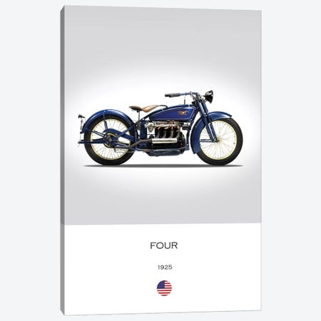 1925 Ace Four Motorcycle Canvas Print #RGN298} by Mark Rogan Art Print