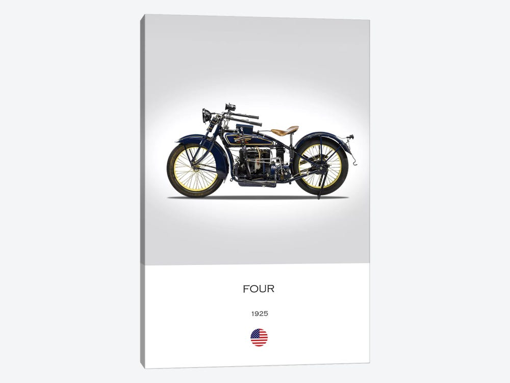 1925 Henderson Four Motorcycle by Mark Rogan 1-piece Canvas Artwork
