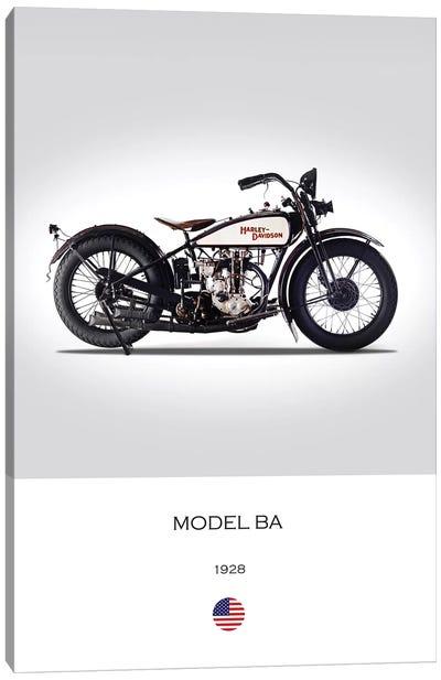 1928 Harley-Davidson Model BA Motorcycle Canvas Art Print