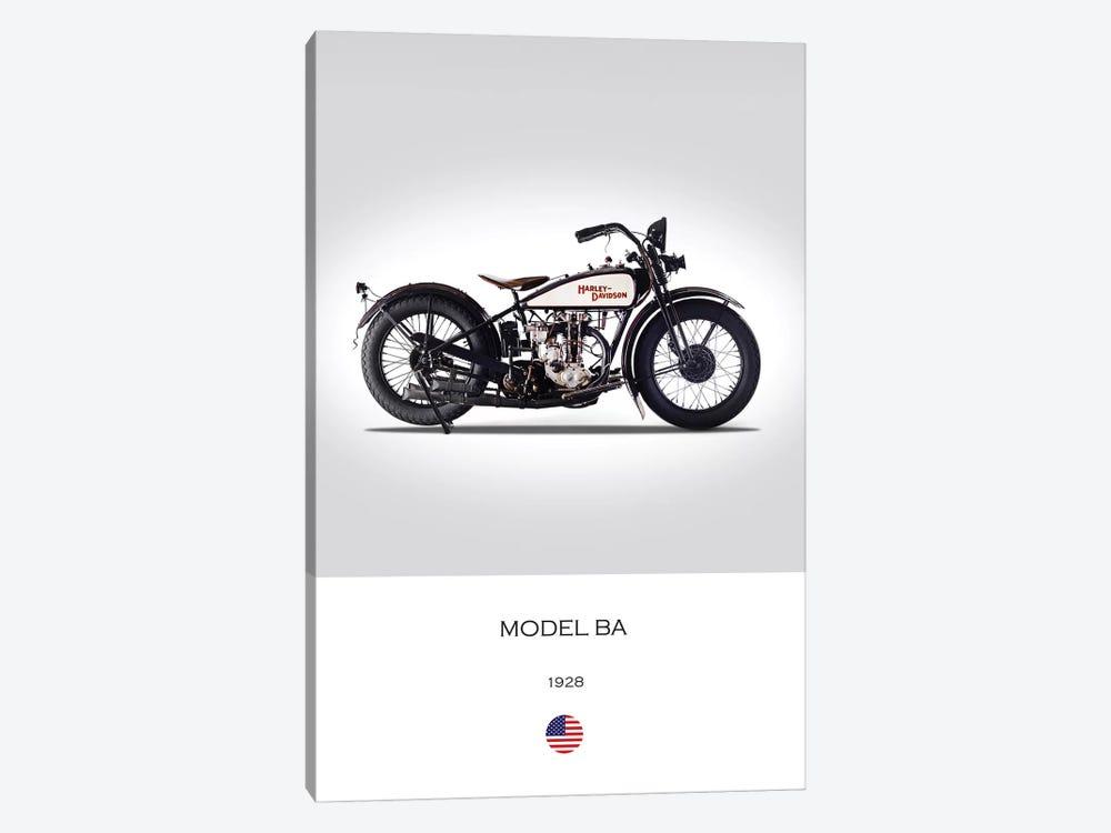 1928 Harley-Davidson Model BA Motorcycle by Mark Rogan 1-piece Canvas Print