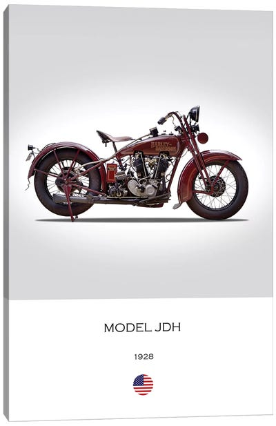 1928 Harley-Davidson Model JDH Motorcycle Canvas Art Print
