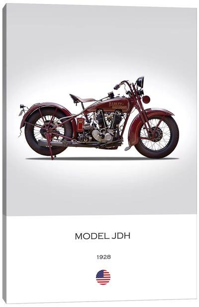 1928 Harley-Davidson Model JDH Motorcycle Canvas Art Print
