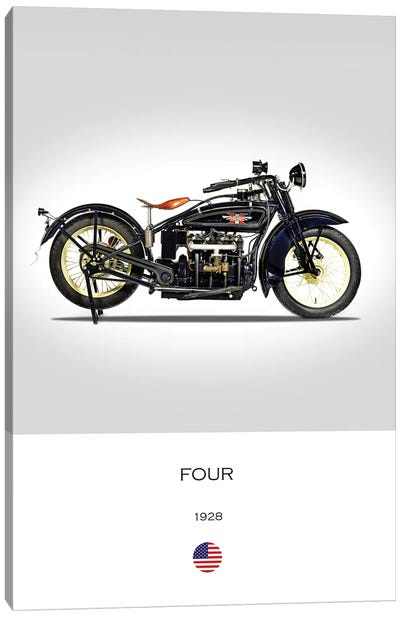 1928 Henderson Four Motorcycle Canvas Art Print
