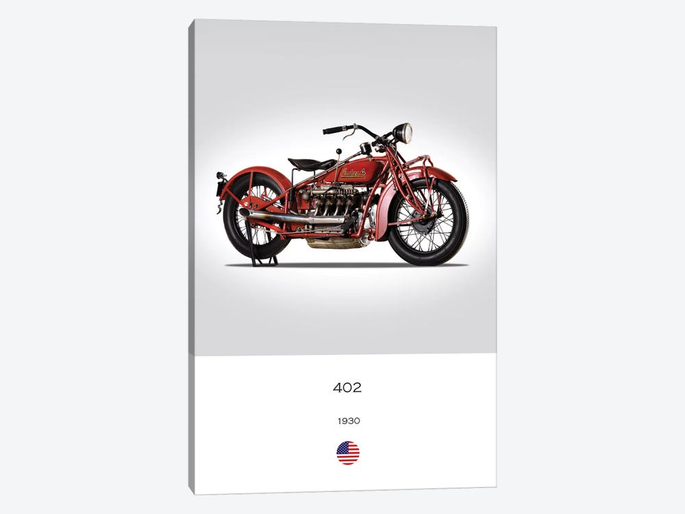 1930 Indian 402 Motorcycle by Mark Rogan 1-piece Canvas Print