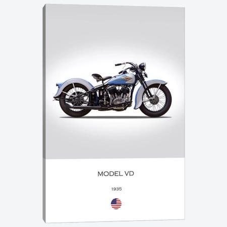 1935 Harley-Davidson Model VD Motorcycle Canvas Print #RGN308} by Mark Rogan Canvas Print