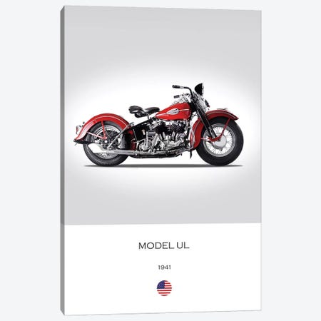 1941 Harley-Davidson Model UL Motorcycle Canvas Print #RGN314} by Mark Rogan Art Print