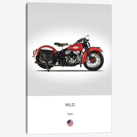 1941 Harley-Davidson WLD Motorcycle Canvas Print #RGN315} by Mark Rogan Canvas Art Print