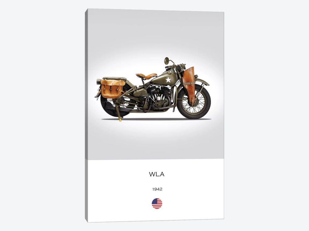 1942 Harley-Davidson WLA Motorcycle by Mark Rogan 1-piece Art Print