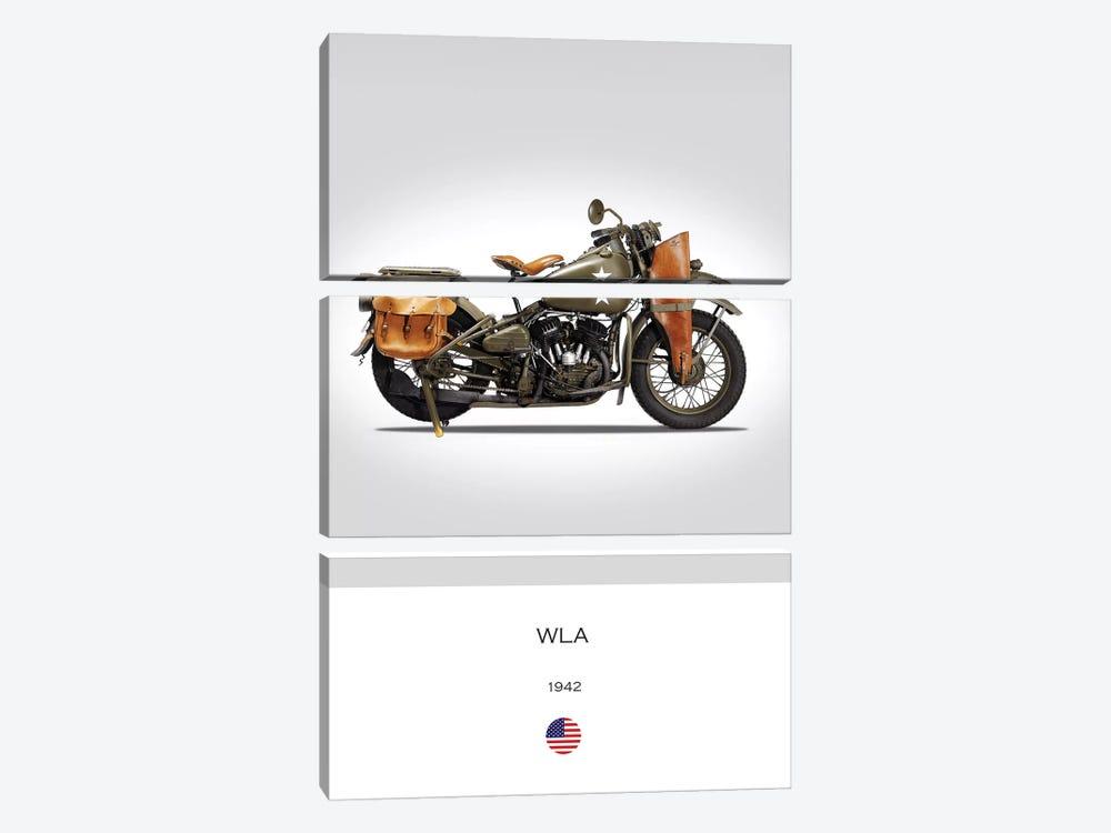 1942 Harley-Davidson WLA Motorcycle by Mark Rogan 3-piece Art Print
