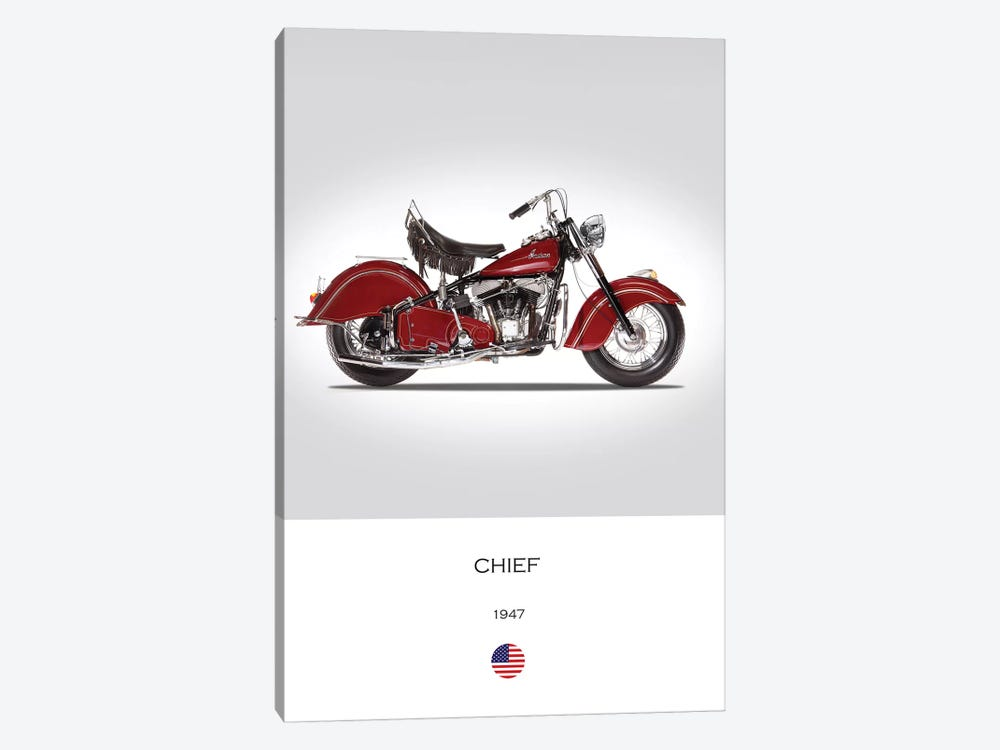 1947 Indian Chief Motorcycle 1-piece Art Print
