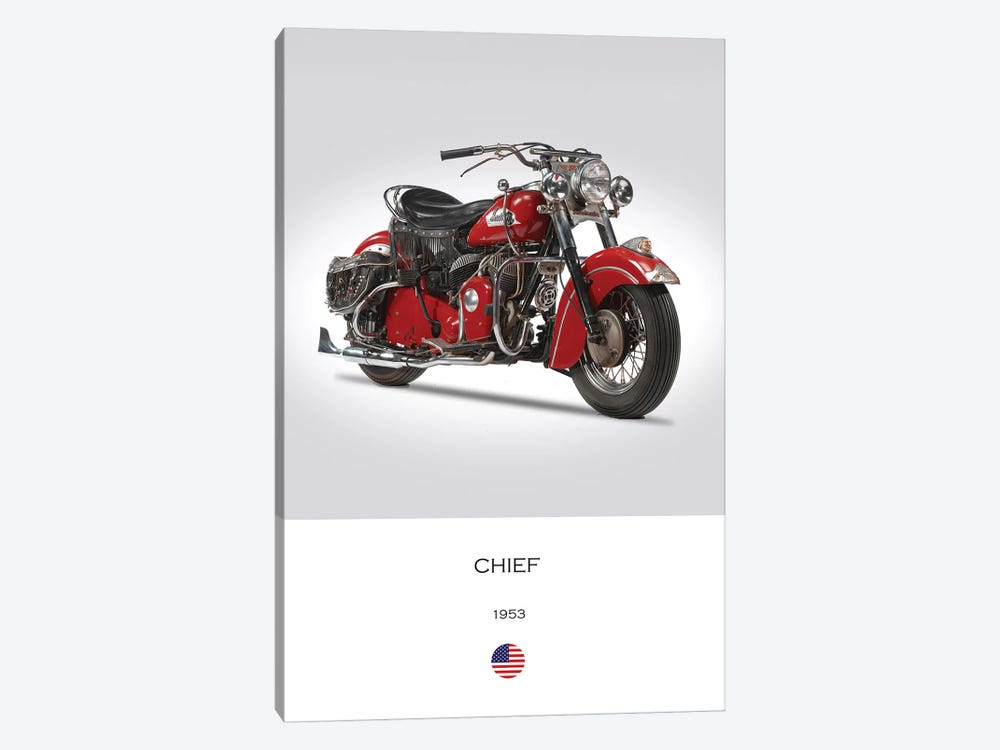 1953 Indian Chief Motorcycle 1-piece Canvas Print