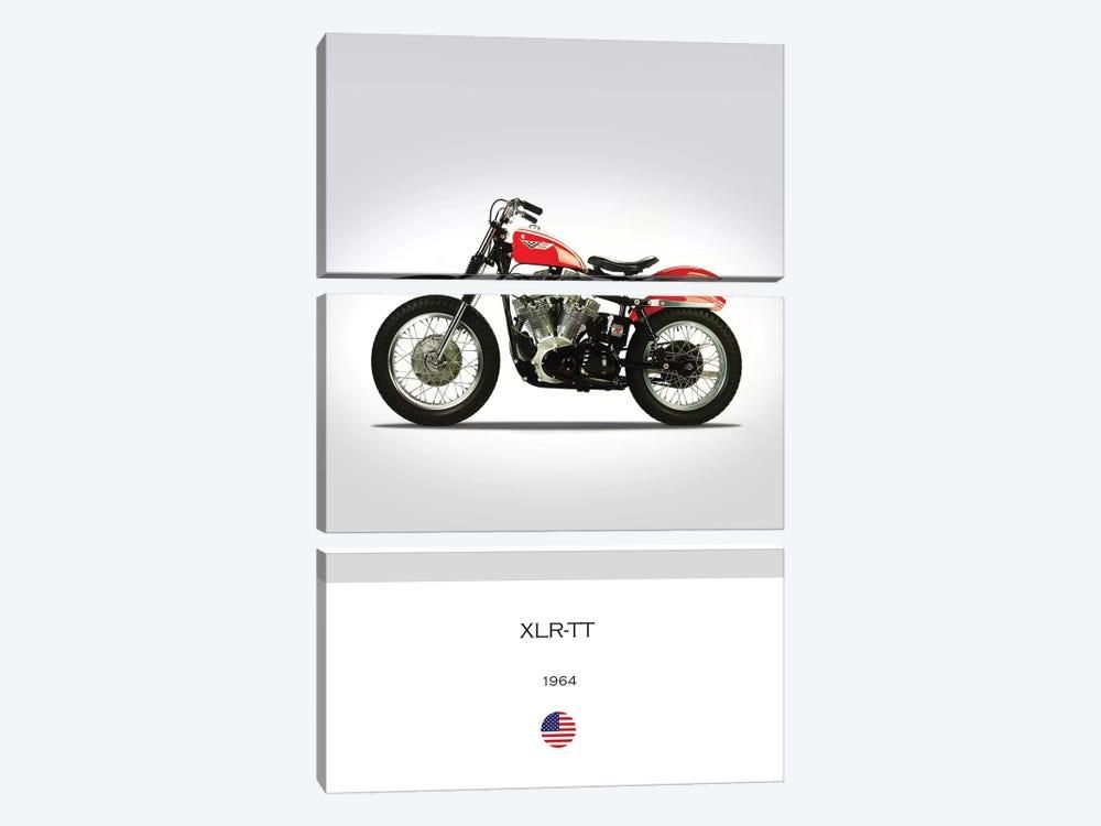 1964 Harley-Davidson XLR-TT Motorcycle by Mark Rogan 3-piece Canvas Artwork