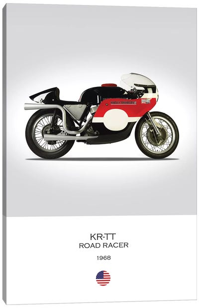 1968 Harley Davidson KR TT Road Racer Motorcycle Canvas Art Print