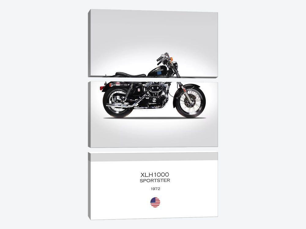 1972 Harley-Davidson XLH1000 Sportster Motorcycle by Mark Rogan 3-piece Canvas Print